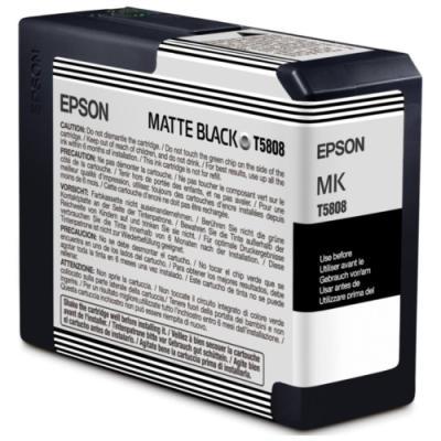 Inkoustová náplň Epson T5808 matná černá