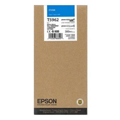 Inkoustová náplň Epson T5962 modrá