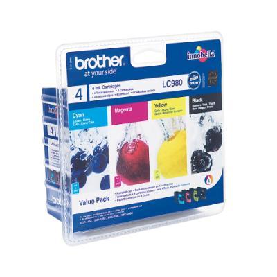 Inkoustová náplň Brother LC980 CMYK