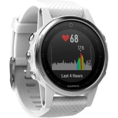 Sportovní hodinky Garmin fenix5S stříbrno - bílé