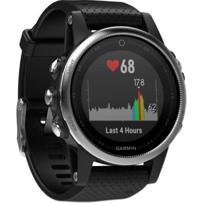 Sportovní hodinky Garmin fenix5S stříbrno - černé