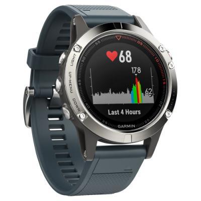 Sportovní hodinky Garmin fenix5 stříbrno - modré
