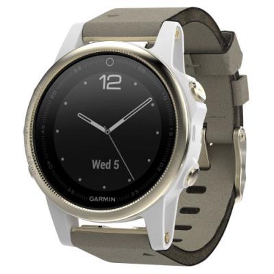 Sportovní hodinky Garmin fenix5S Sapphire béžové