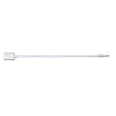 Kabel REMAX 3,5 mm jack na 2x jack 20cm zlatý