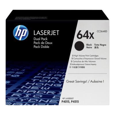 Toner HP 64X (CC364XD) dvojpack černý