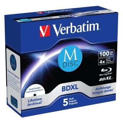 Blu-Ray médium Verbatim M-DISC BDXL 100 GB 5 ks