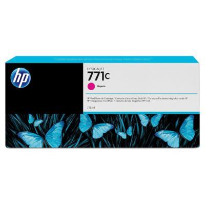 Inkoustová náplň HP 771C (B6Y09A) červená