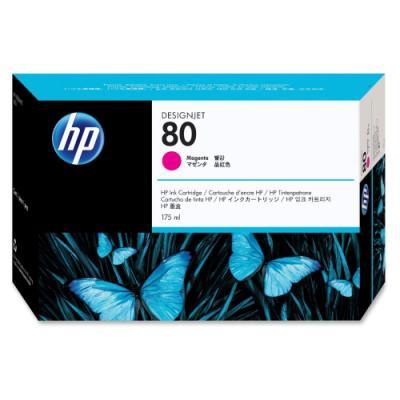 Inkoustová náplň HP 80 (C4874A) červená