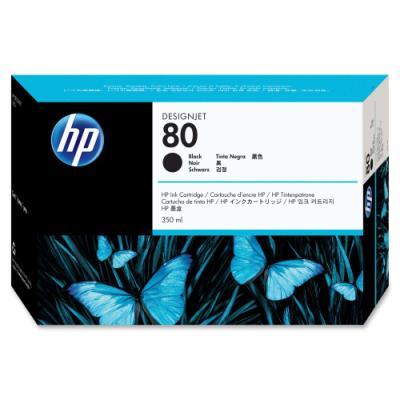 Inkoustová náplň HP 80 (C4871A) černá