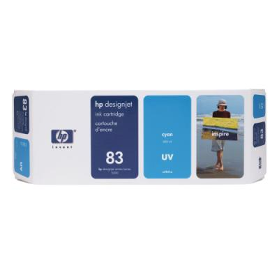 Inkoustová náplň HP 83 (C4941A) modrá