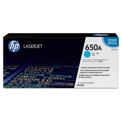 Toner HP 650A (CE271A) modrý