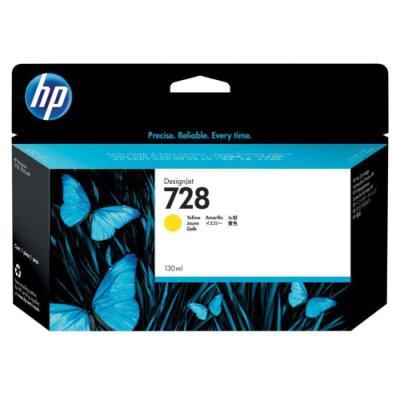 Inkoustová náplň HP 728 (F9J65A) žlutá