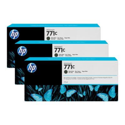 Inkoustová náplň HP 771C (B6Y31A) trojpack černá