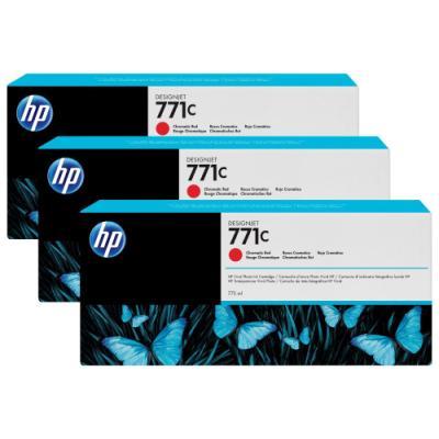 Inkoustová náplň HP 771C (B6Y32A) trojpack červená