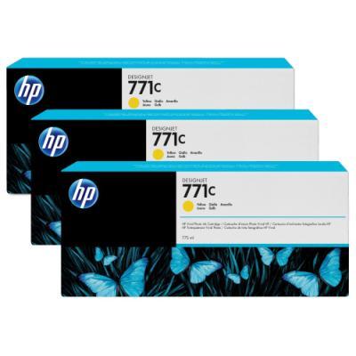 Inkoustová náplň HP 771C (B6Y34A) trojpack žlutá