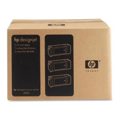 Inkoustová náplň HP 90 (C5095A) trojpack černá