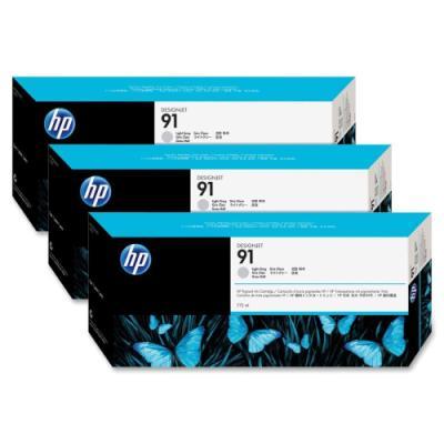 Inkoustová náplň HP 91 (C9482A) trojpack šedá