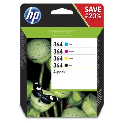 Inkoustová náplň HP 364 (N9J73AE) multipack CMYK