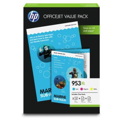 Inkoustová náplň HP 953XL (1CC21AE) + papír