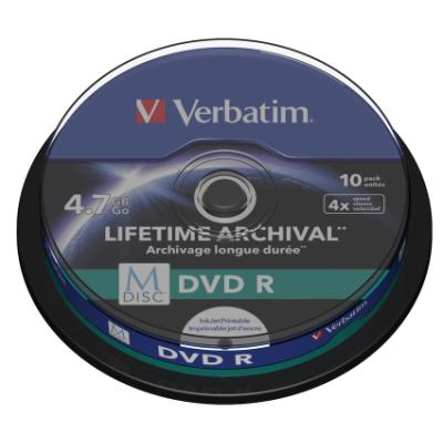 DVD médium Verbatim M-DISC DVD-R 4,7GB 10 ks