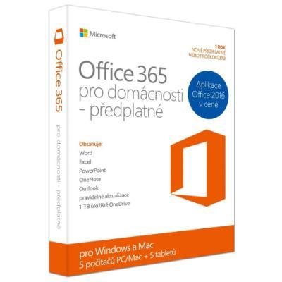 Software MS Office 365 pro domácnosti
