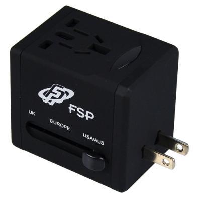 Univerzální cestovní adaptér Fortron NT580 černý