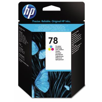 Inkoustová náplň HP 78 (C6578DE) CMY