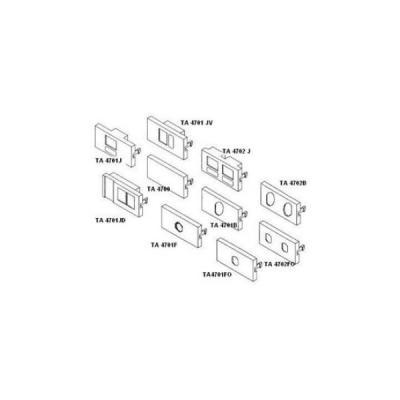 Čelní panel Solarix pro modulární zásuvku plný