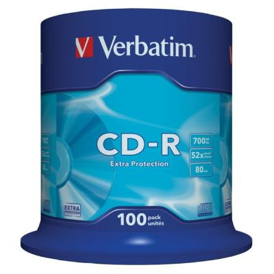 CD médium Verbatim CD-R80 700MB 100ks