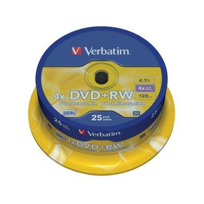 DVD médium Verbatim DVD+RW 4,7GB 25 ks