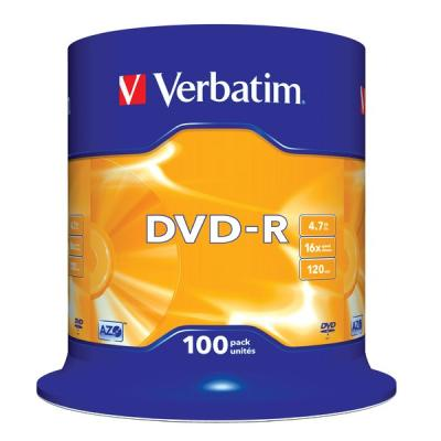 DVD médium Verbatim DVD-R 4,7GB 100 ks