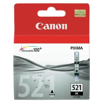 Inkoustová náplň Canon CLI-521Bk černá