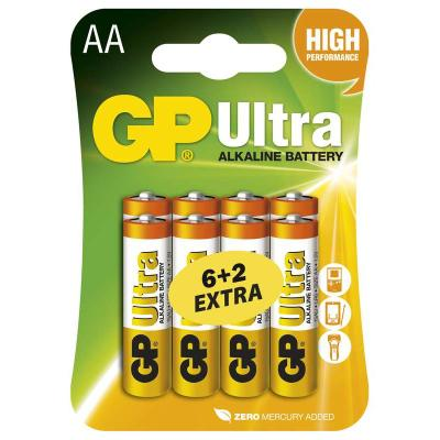 Baterie GP Ultra 1,5 V AA (LR6) 8 ks