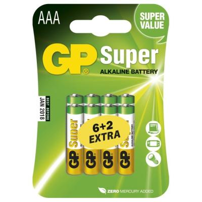 Baterie GP Super 1,5 V AAA (LR03) 8 ks