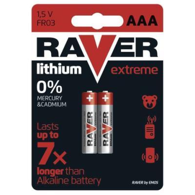 Baterie GP RAVER Extreme 1,5 V AAA (FR03) 2 ks
