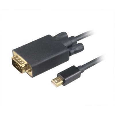 Kabel Akasa mini DisplayPort na VGA 1,8 m černý