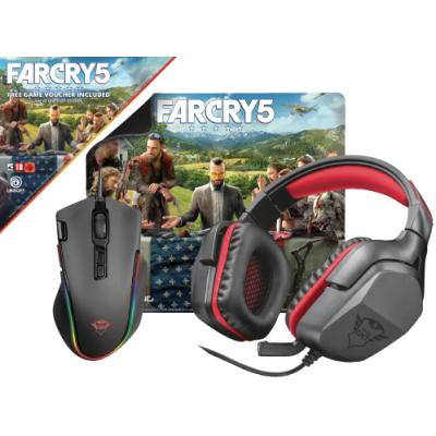 Set headsetu, myši a podložky Trust GXT Far Cry 5