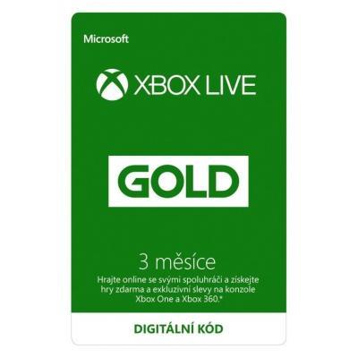 Členská karta Microsoft Xbox Live Gold 3 měsíce