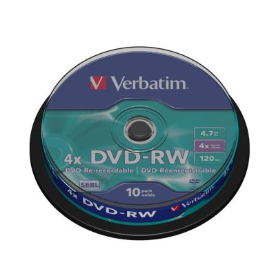 DVD médium Verbatim DVD-RW 4,7GB 10ks