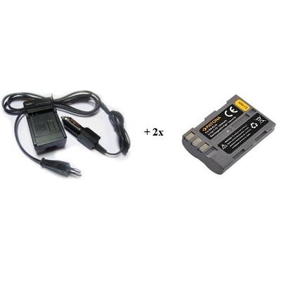Nabíječka PATONA + 2 x baterie Nikon ENEL3e