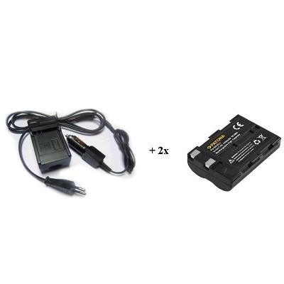 Nabíječka PATONA + 2 x baterie Nikon ENEL3