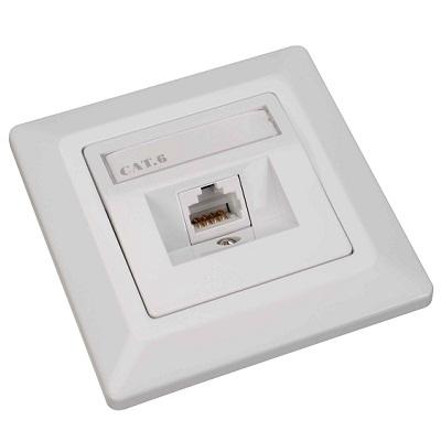 Datová zásuvka Solarix SX9-1-6-STP-WH