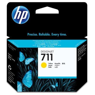 Inkoustová náplň HP 711 (CZ132A) žlutá