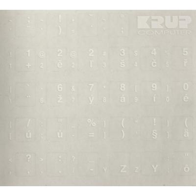 Přelepky na klávesnici PremiumCord CZ bílé