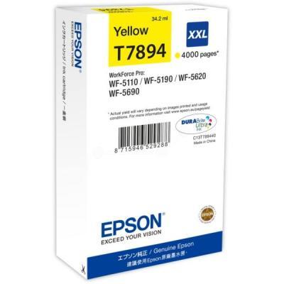 Inkoustová náplň Epson T7894 XXL žlutá