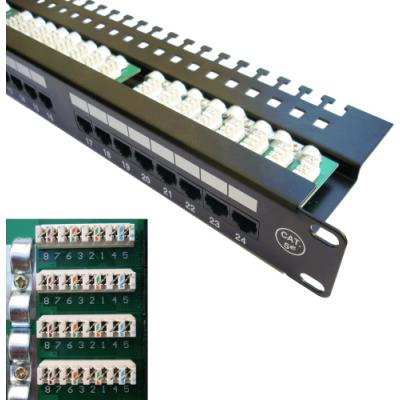 "Patch panel DATACOM 19"" UTP 24 portů cat.5e LSA"