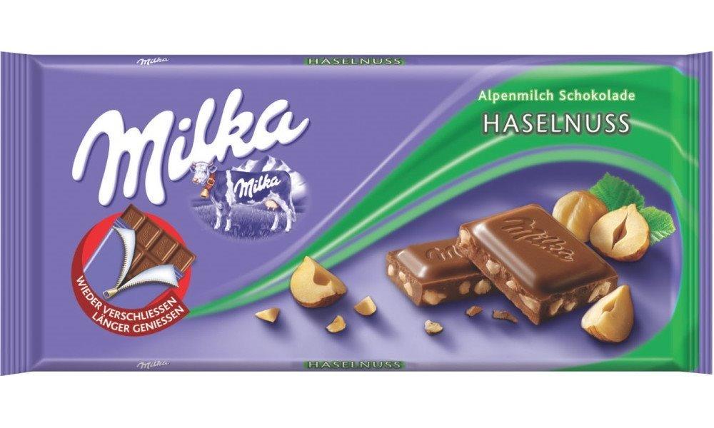 Čokoláda Milka oříšková