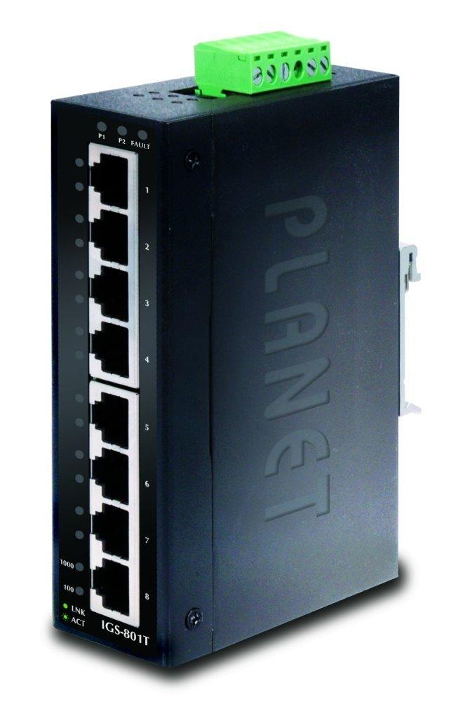PLANET IGS-801T Průmyslový Switch 8x 10/100/1000, -40 +75°C