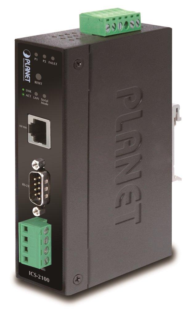 PLANET ICS-2100 Průmyslový konvertor 1x RS232/422/485 na 1x TP 10/100, -10 +60°C