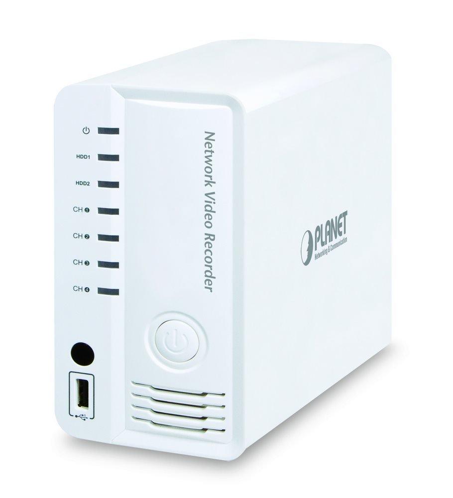 OPRAVENÉ - PLANET NVR-420 pro 4 kamery, 120 FHD fps, 2x 3,5 SATA (max 4TB), HDMI, 10/100 RJ45 rozbalené